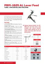 Portable Beveler and Bevelling Machine PBM1625 AL Lever Feed