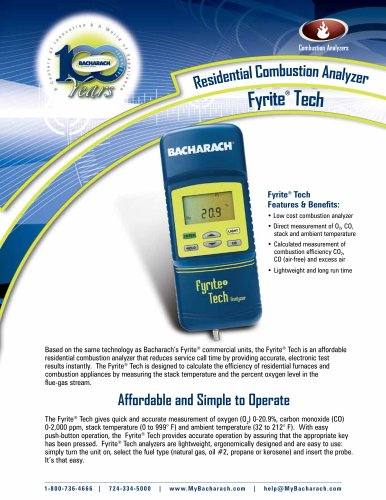 Fyrite® Tech Residential Combustion Analyzer