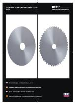 Standardized carbide circular saws