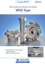 WGX Type Milling Cutter for General Face Milling