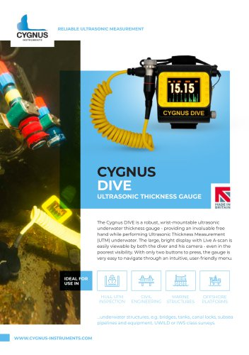 Cygnus DIVE Ultrasonic Thickness Gauge