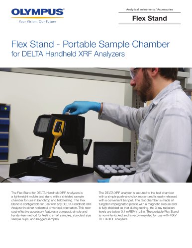 Flex Stand - Portable Sample Chamber for DELTA Handheld XRF Analyzers