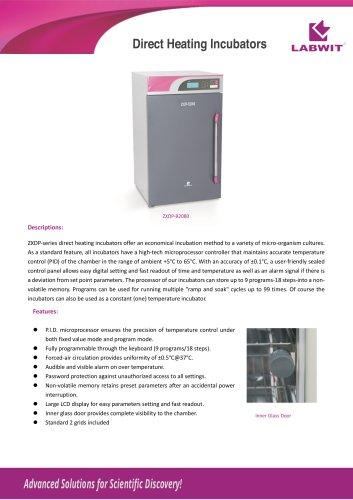 Direct Heating Incubator V2020