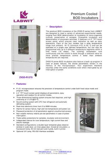 Premium BOD Cooled Incubator