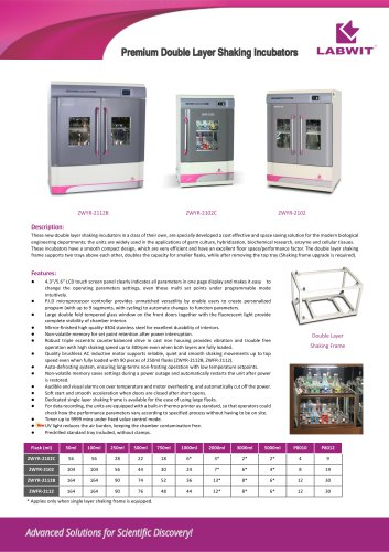 Premium Double Layer Shaking Incubator 2020