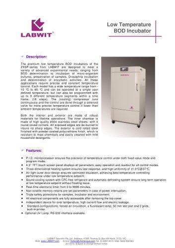 Premium Low Temperature Incubator