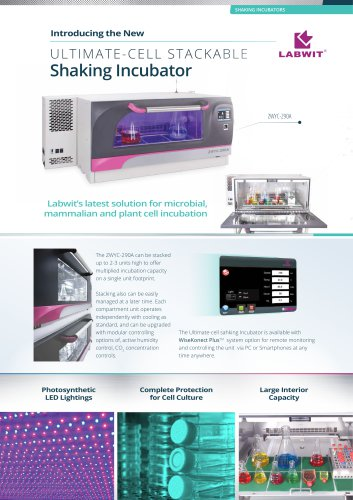 Ultimate-Cell Stackable Shaking Incubator Leaflet