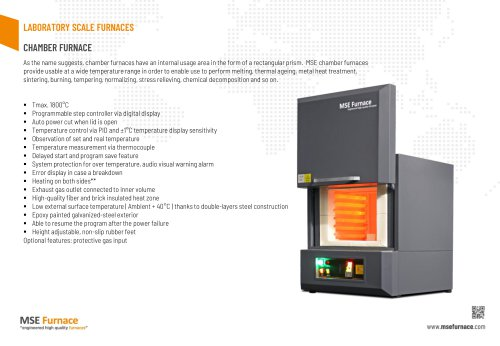 LABORATORY SCALE FURNACES