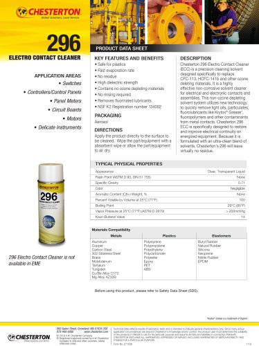 296 electro contact cleaner