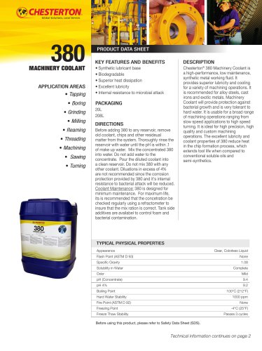380 Machinery Coolant