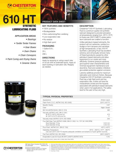 610 HT Synthetic Lubricating Fluid