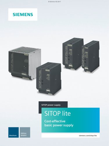 SITOP Lite- low-cost basic power supply