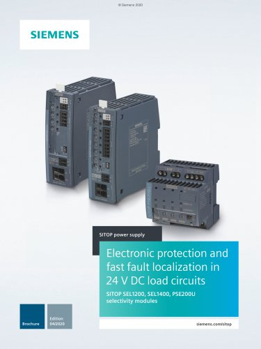 SITOP PSE200U: Electronic protection of 24 V DC load