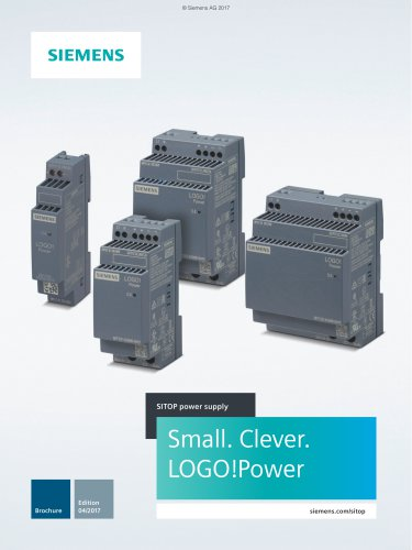 The new mini power supplies LOGO!Power