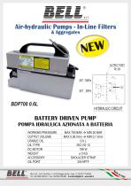 BDP SERIES - Battery operated electro-hydraulic pump