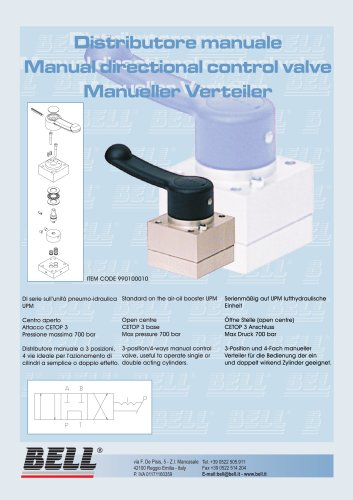 Hand directional control valve
