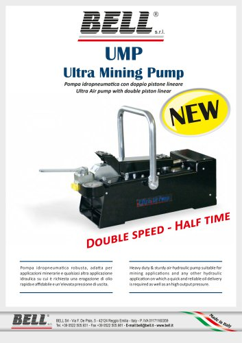 UP - UMP SERIES - Double linear piston hydropneumatic pump