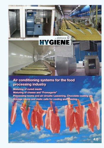 Air conditioning systems for the food processing industry
