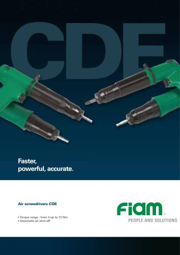 Air screwdrivers CDE