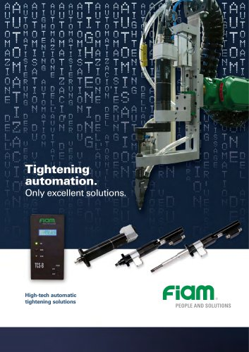 High-tech automatic tightening solutions