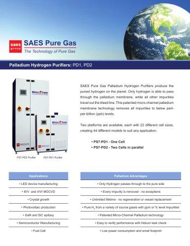 Palladium Hydrogen Purifiers: PD1, PD2