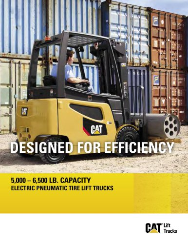 2EPC5000 - 2EP6500 Electric Pneumatic Tire Lift Trucks