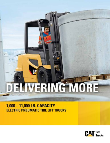 2EPC7000-2EP11000 Electric Pneumatic Tire Lift Trucks