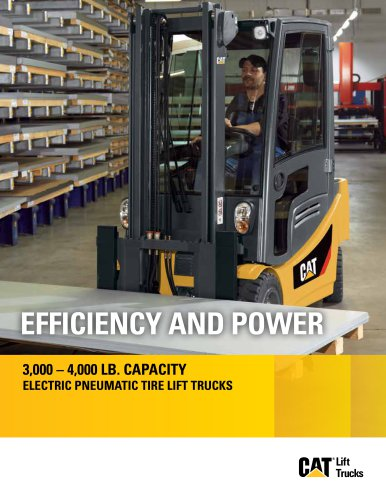 EPC3000-EP4000 Electric Pneumatic Tire Lift Trucks