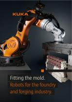 Robots for the foundry and forging industry