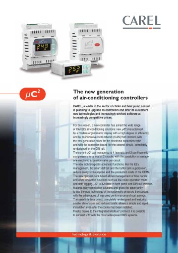 The new generation of air-conditioning controllers
