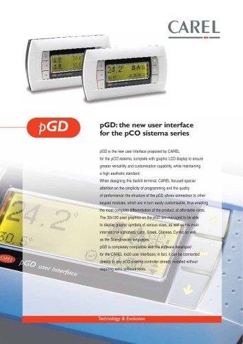 PGD: the new user intefrace for the pCO sistema series