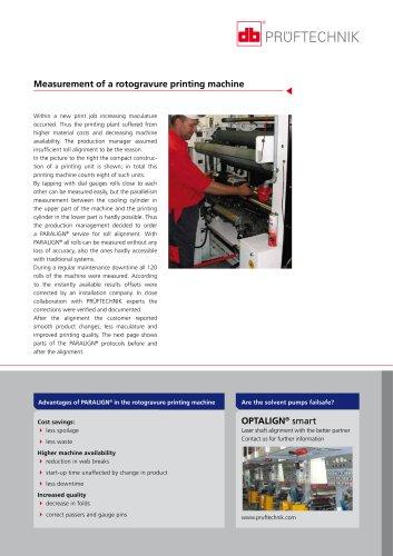 PARALIGN - Measurement of a rotogravure printing machine