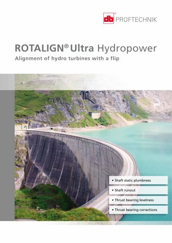 ROTALIGN Ultra Hydropower - Alignment of hydro turbines with a flip