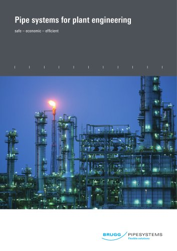 Pipe systems for plant engineering