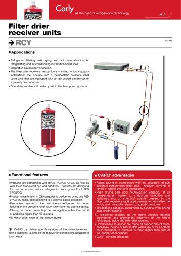 Filter drier receiver units