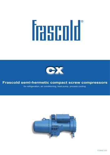 CX - Frascold semi-hermetic compact screw compressors