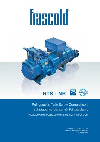 Refrigeration Semi-hermetic screw compressor RTS / NR - 50 Hz