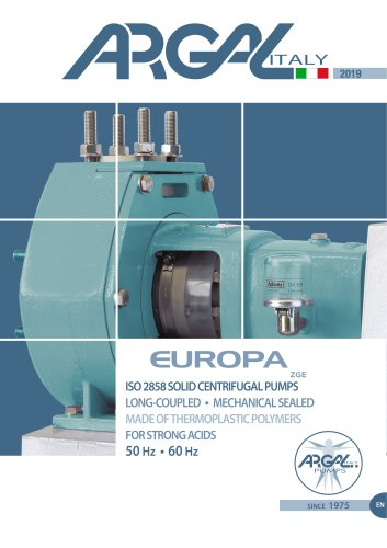 Chemical Centrifugal Pumps ISO 2858 ZGE