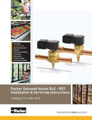 Parker Solenoid Valves R42 - R57 Installation & Servicing Instructions