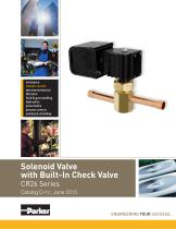 Solenoid Valve with Built-In Check Valve