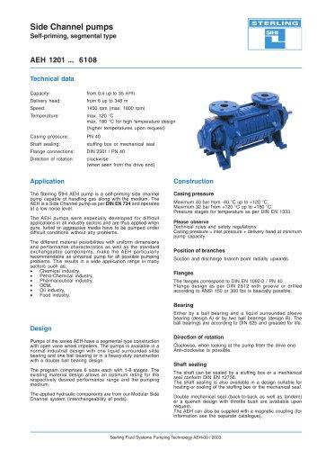 Catalogue - Series AEH, 35 m³/h, 348 m, 180 °C