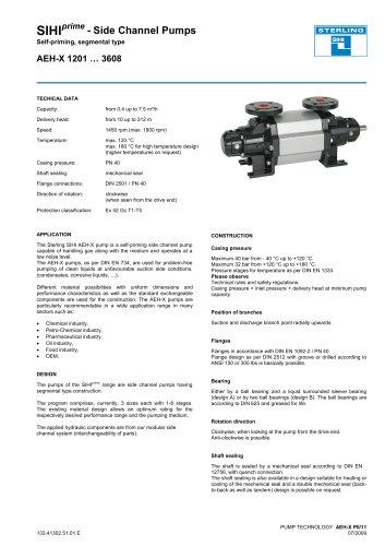 Catalogue - Series AEH-X, 7.5 m³/h, 312 m, 180 °C
