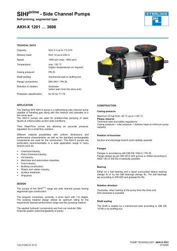 Catalogue - Series AKH-X, 7.5 m³/h, 242 m, 120 °C