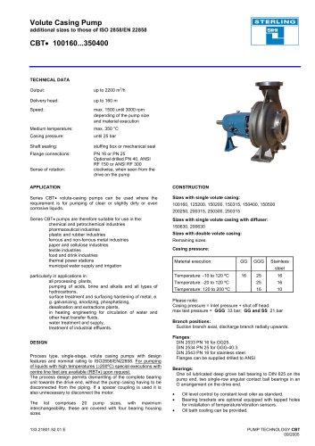 Catalogue - Series CBT, 2,200 m³/h, 160 m, 350 °C