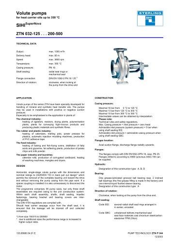 Catalogue - Series SIHISuperNova ZTN, 1,000 m³/h, 95 m, 350 °C