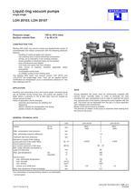Liquid ring vacuum pumps single stage LOH 20103, LOH 20107
