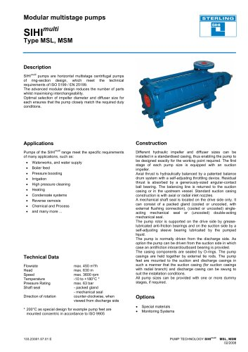 Product Information SIHImulti MSL, MSM