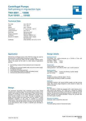 Series TKH/TLH, 350 m³/h, 185 m, 120 °C