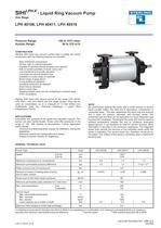 SIHILPH-X - Liquid Ring Vacuum Pump One Stage LPH 40106, LPH 40411, LPH 40516