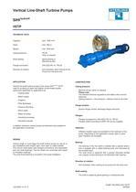 Vertical Line-Shaft Turbine Pumps